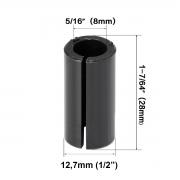 Bucha Adaptador Para Tupia Pinça De 1/2pol - 12,7mm P/ 8mm