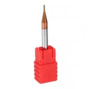 Fresa Topo Metal Duro 1,0mm 4 Cortes Hrc55 Cobertura TiSiCrN