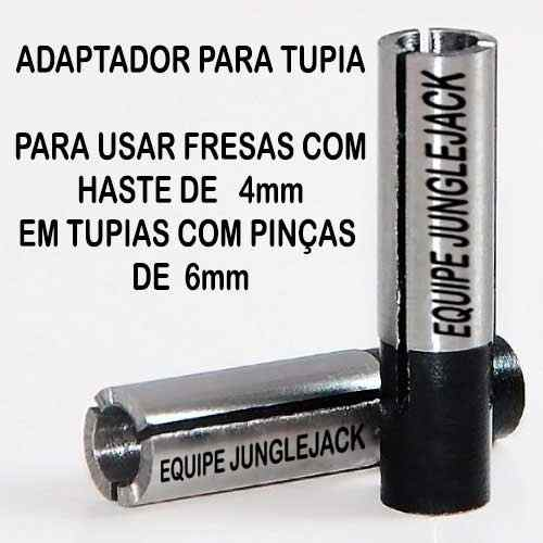 Adaptador Tupia Cnc Retífica Spindle, 6mm P/ 4mm Router Cnc