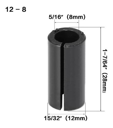 Bucha Adaptador Para Tupia Pinça De 12mm P/ 8mm