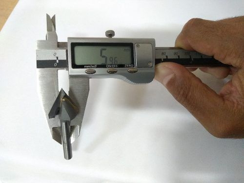 Fresa Bit Cnc Router Tupia Madeira V-carv 19,05mm 60 Graus
