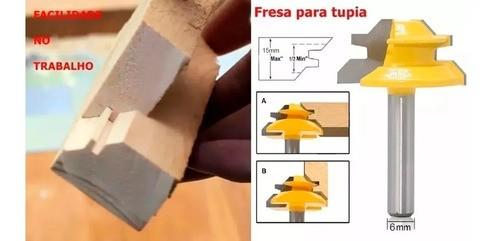 Fresa Encaixe Macho Fêmea Em Única Ferramenta - Haste 6mm