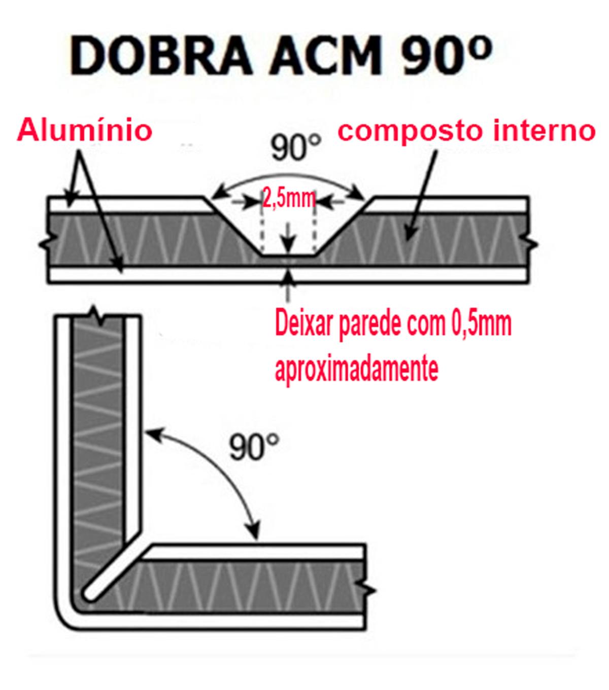 Fresa Para Chanfro E Dobras De Acm METAL DURO - DIMENSÕES DA FR382 AMANATOOL