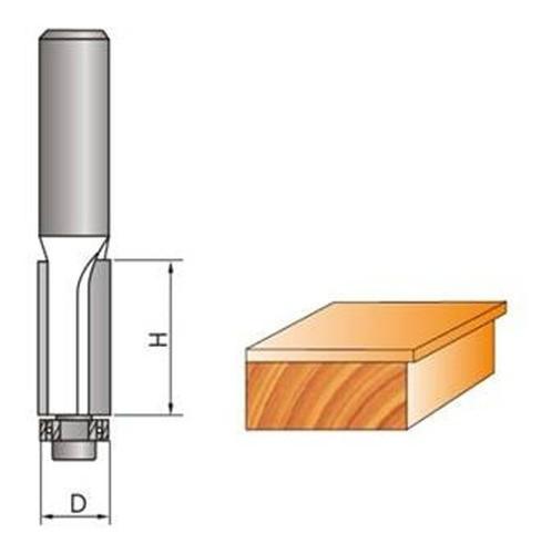 """Fresa Reta Paralela C/ Rolamento P/ Madeira 6mmx1/4"""" (6,35mm)"""