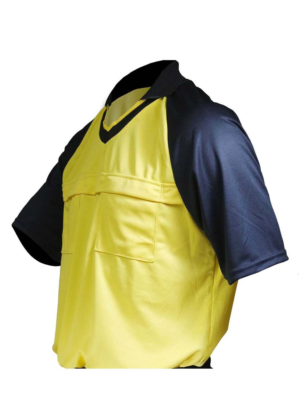 Camisa de Juiz Futebol verde limão a2b4d41df9938