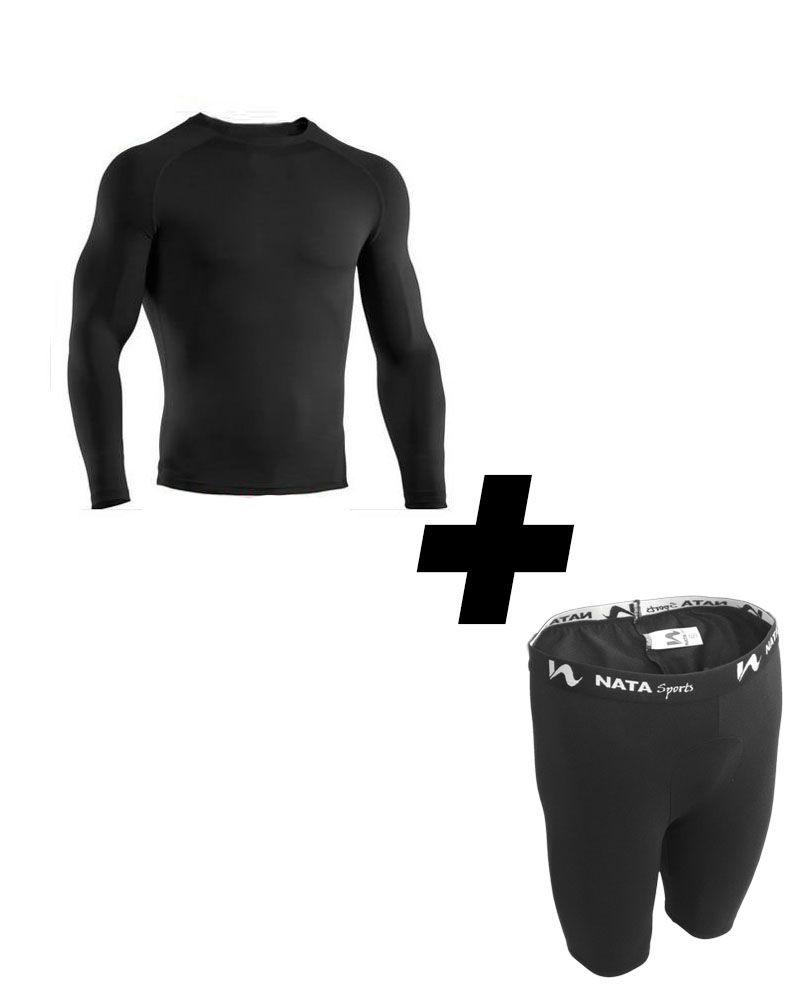 Camisa Térmica Segunda Pele + Bermuda Térmica