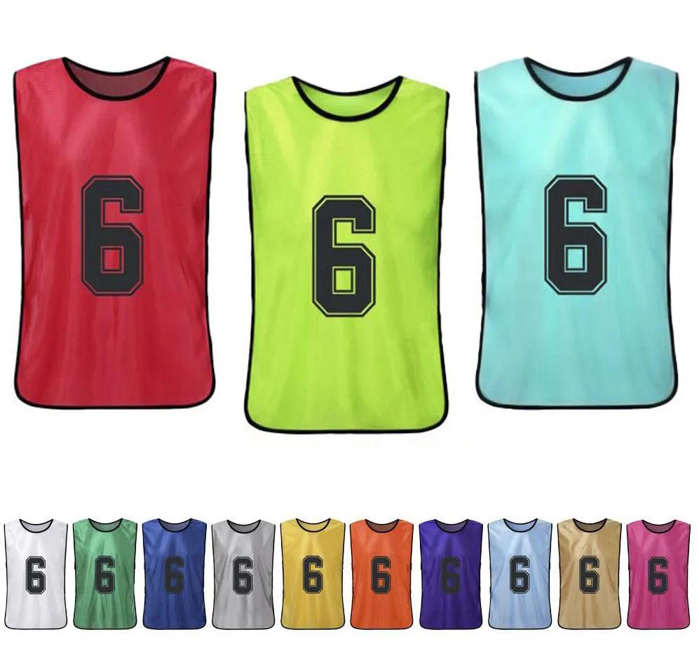 Colete de Futebol Liso Numerado - Kit 12 Pcs