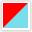 Vermelho - Azul Celeste