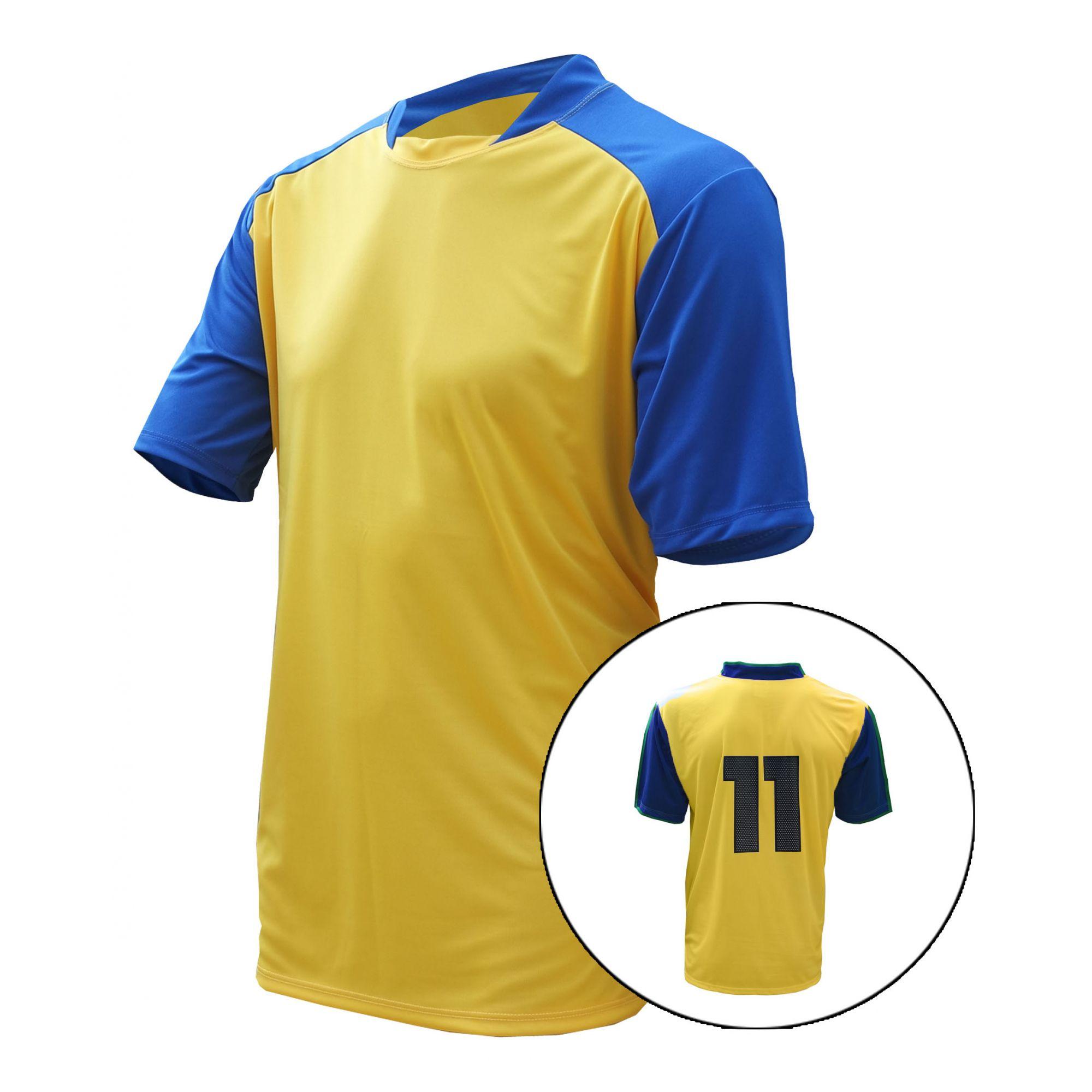 Jogo de Camisa de Futebol Trivela 14+1 Peças Numeradas