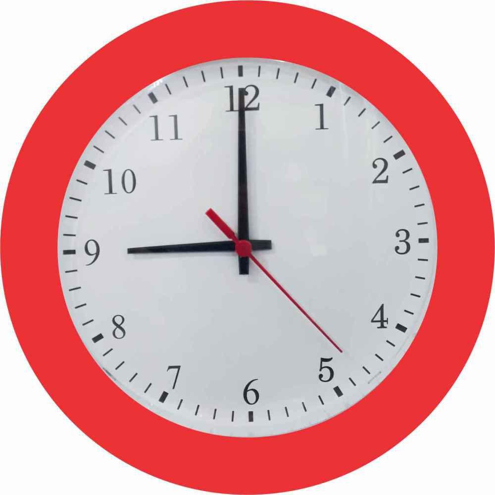 Kit 05 Relógio de Parede Classic 27cm Diversas cores
