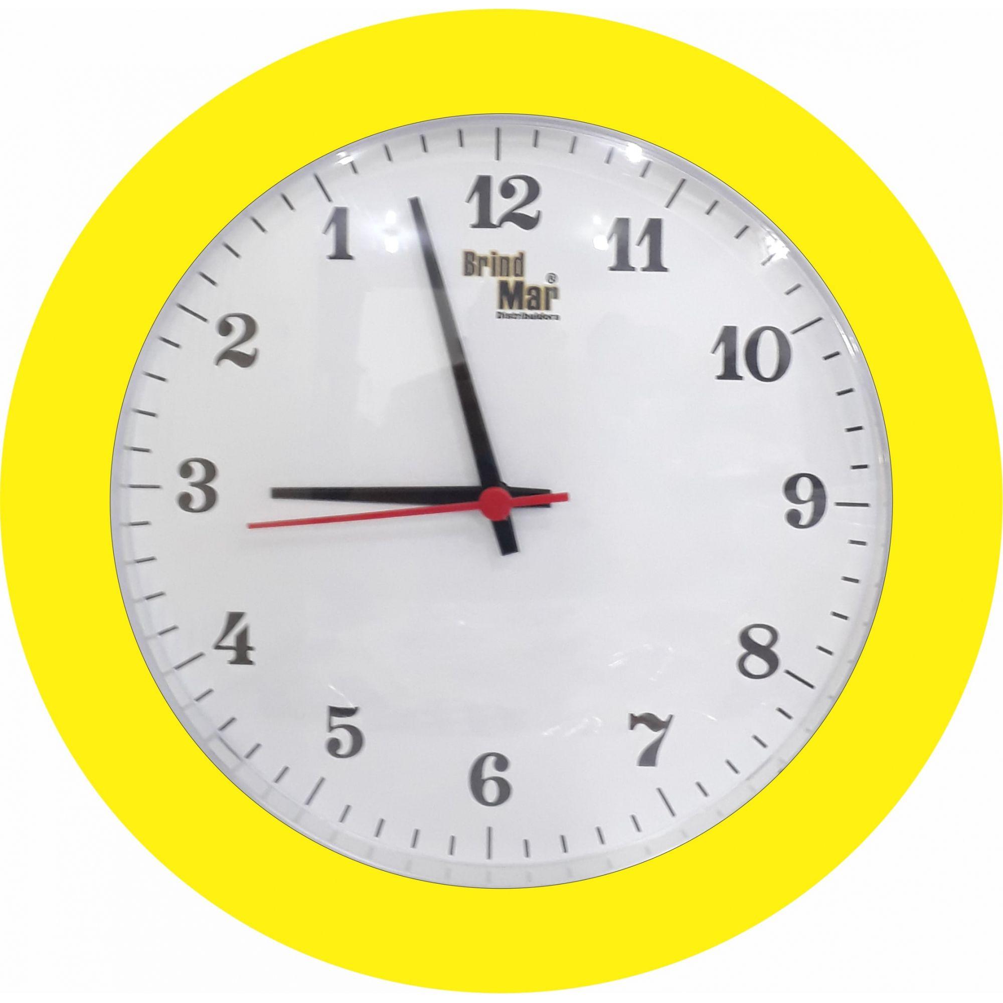 Kit 10 Relógio de Parede Anti-Horário Redondo Personalizado