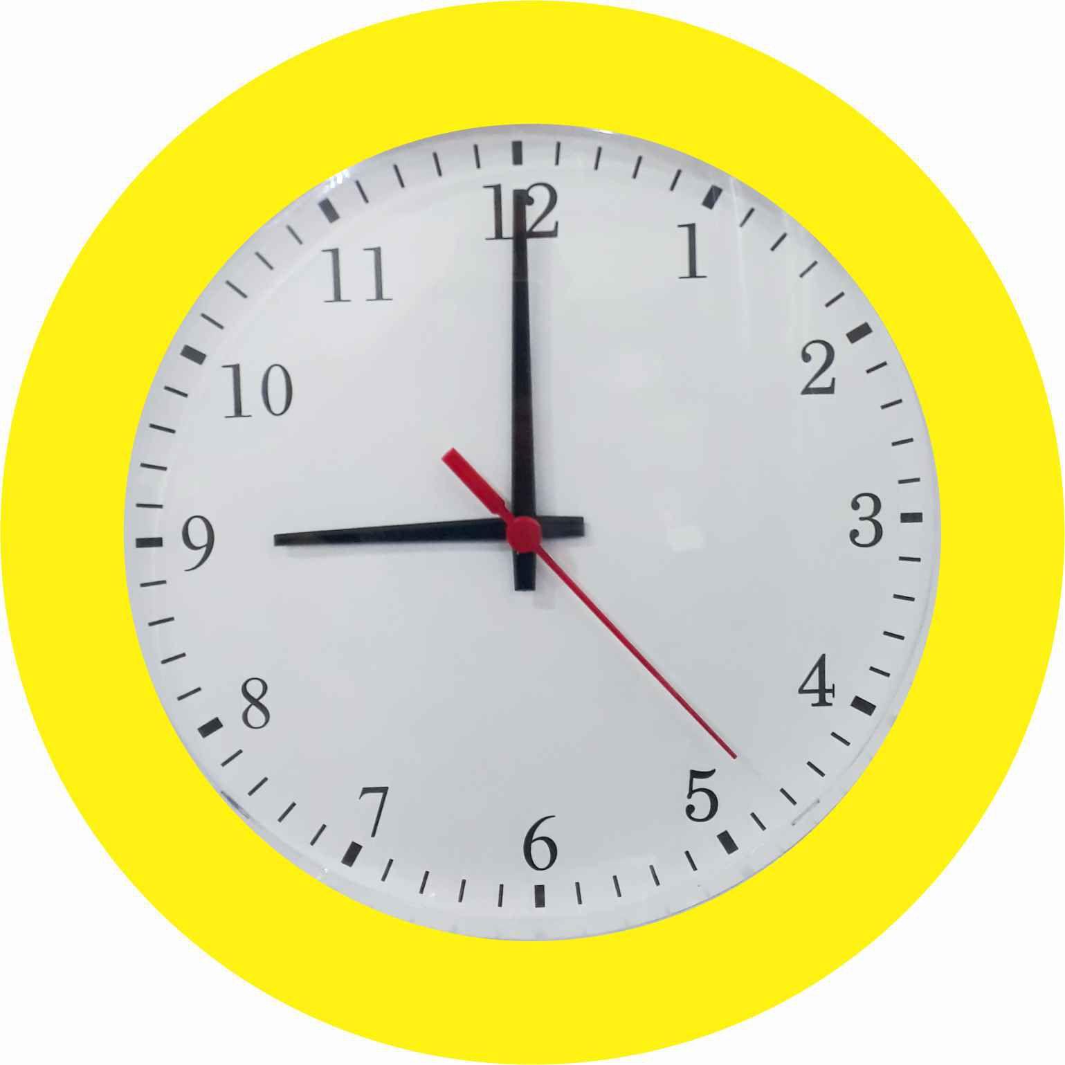 Kit 10 Relógio de Parede Classic 27cm Diversas cores