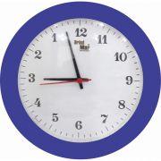 Kit 05 Relógio de Parede Anti-Horário Redondo Personalizado