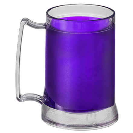 Caneca Chopp Gel 350ml - Color/Transp.