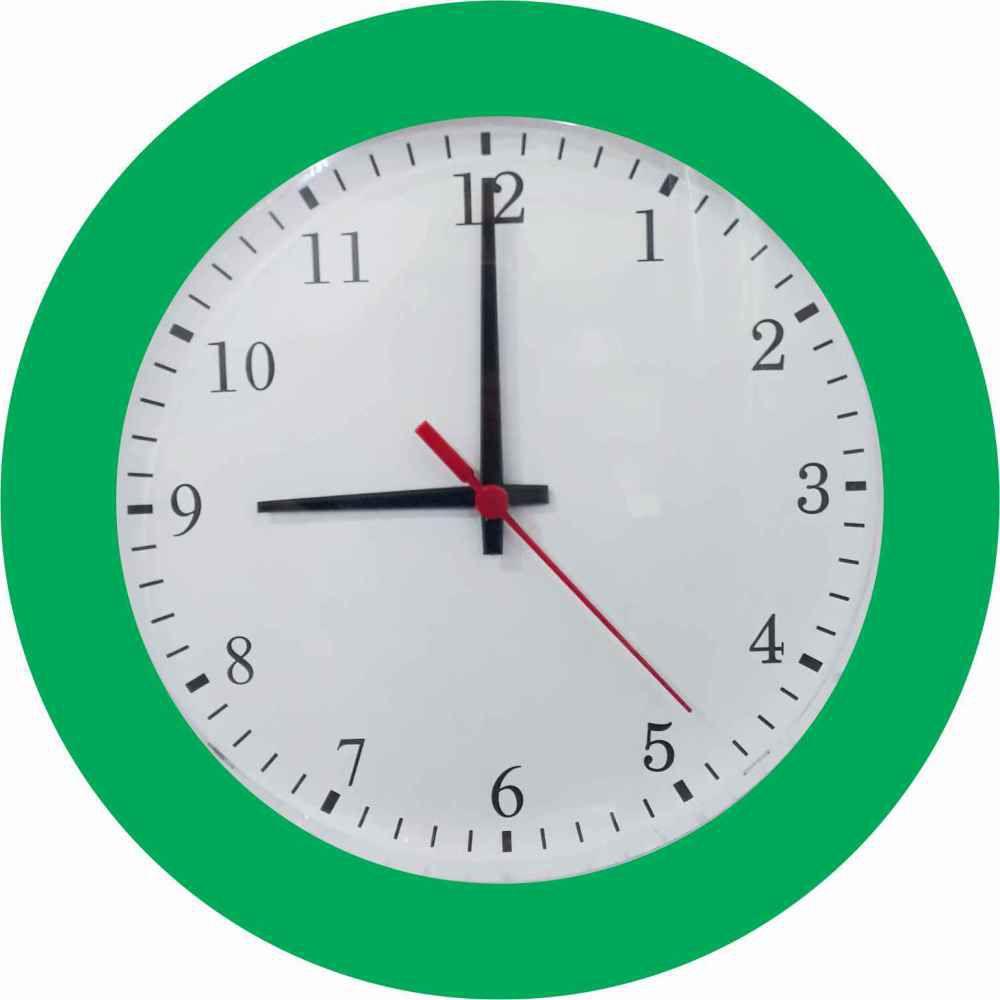 Relógio de Parede Classic 27cm Diversas cores