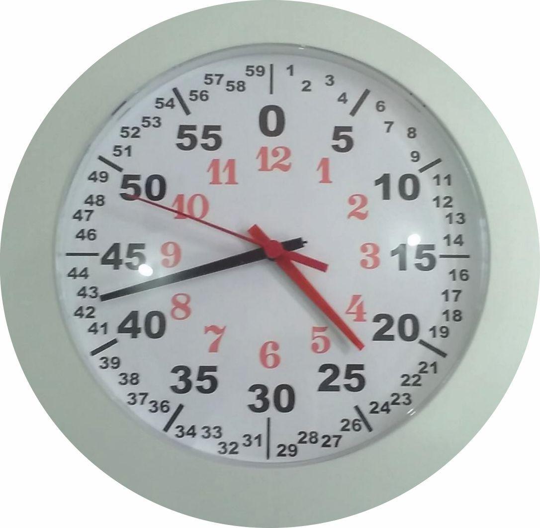 Relógio de Parede Disléxicos Diversas Cores