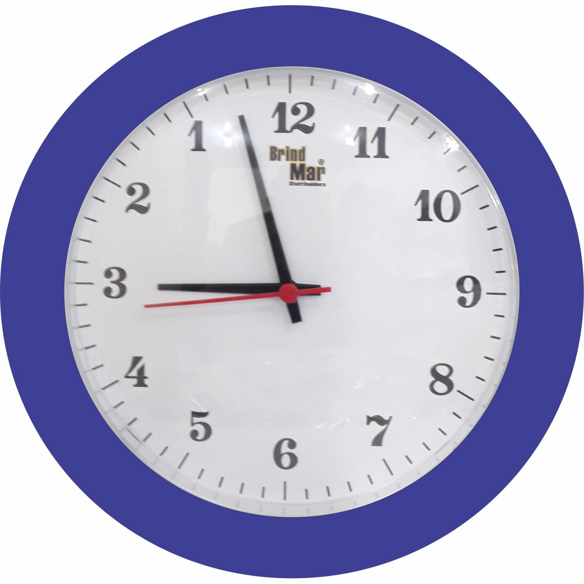 Relógio de Parede Anti-Horário Redondo Personalizado