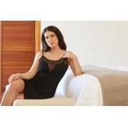Camisola Trussardi Modal com bordado Fiorella Preto Nero GG