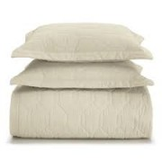 Cobre Leito Casal 100% algodão Liss Bege - karsten