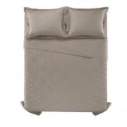 Cobre leito king size algodão liss taupe - Karsten