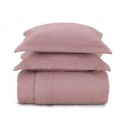 Cobre leito queen algodão liss rosa - Karsten