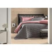 Cobre leito solteiro algodão liss cinza grafite - karsten