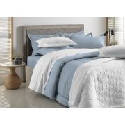 Edredom Queen Azul Allure 100% algodão Liss Karsten