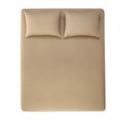 Jogo de cama Casal 100% algodão 3 peças Taupe Italo Karsten