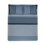 Jogo de cama King 100%algodão Oslo Azul Karsten