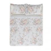 Jogo de cama King 100%algodão Vivaz Flores Karsten