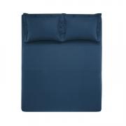 Jogo de Cama King Size Piero Azul Marinho - Trussardi