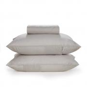 Jogo de cama Queen 100% algodão 3 peças Cinza Nuance Karsten
