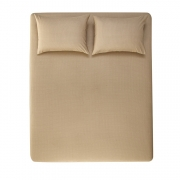 Jogo de cama Queen 100% algodão 3 peças Italo Taupe Karsten
