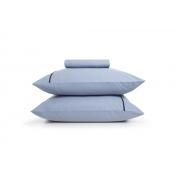 Jogo de lençol Casal Liam Tinto Azul Algodão 3 Peças - Karsten