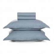 Jogo de lençol Casal Liss Azul Allure 100% algodão - Karsten
