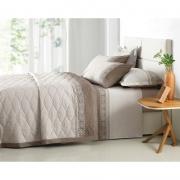 Jogo de lençol Queen Size - 100% algodão - Portofino em tons de bege - karsten