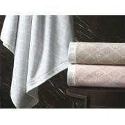 Jogo de toalha super banhão monograma 2 peças (corpo e rosto) Speciale Nocciola - Trussardi