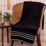 Jogo de toalhas 2 peças – preto com cinza - fio penteado (1rosto + 1corpo banhão) gramatura 500g/m² - karsten