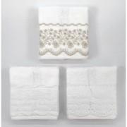 Jogo de toalhas para lavabo imperiale 3 peças - trussardi