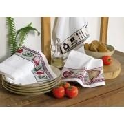 Kit 3 panos de copa atoalhados karsten temáticos cozinhas gourmet