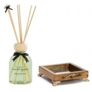 Kit aromatizador de ambiente - bamboo (difusor de aromas + bandeja espelhada) casa del grande