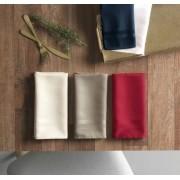 Kit com 6 guardanapos de tecido em jacquard bege - gourmet – karsten