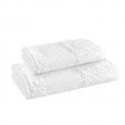 Kit toalha Super banhão para pintar (corpo e rosto) Melina 480g/m2 - Branco - Karsten