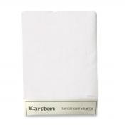 Lençol de Elástico Solteiro King Branco Liss Karsten