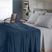 Manta Casal Flannel Comfy Azul Marinho Buettner