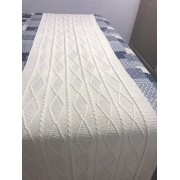 Peseira Tricot Geométrico Bege King 2,60x60 Paloma Home