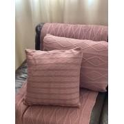 Peseira Tricot Geométrico Rosé Antique C 1,80x60 Paloma Home
