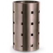 Porta Utensílios em Aço Inox Escovado Bronze - Style