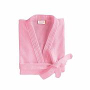 Roupão de inverno manga longa quimono - adulto aveludado G rosa - lepper