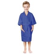 Roupão Infantil Azul Menino P - 3 a 6 anos Felpudo Quimono Confetti Lepper